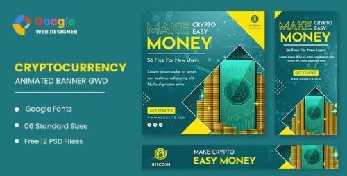 CodeCanyon - Bitcoin Cryptocurrency Animated Banner Google Web Designer v1.0 - 32809615