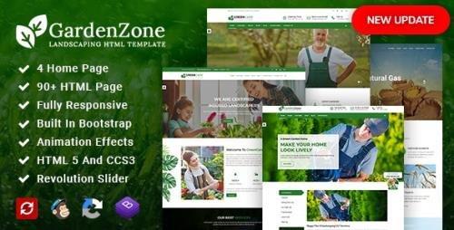 ThemeForest - GardenZone v2.3 - Agriculture, Gardening & Landscaping Responsive HTML Template - 19306685
