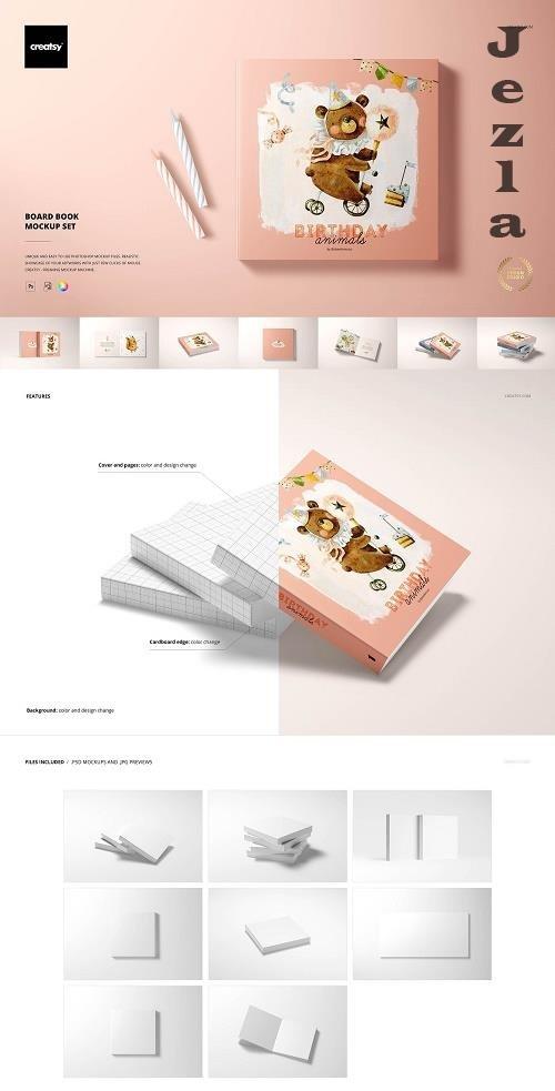 Board Book Mockup Set - 6248775