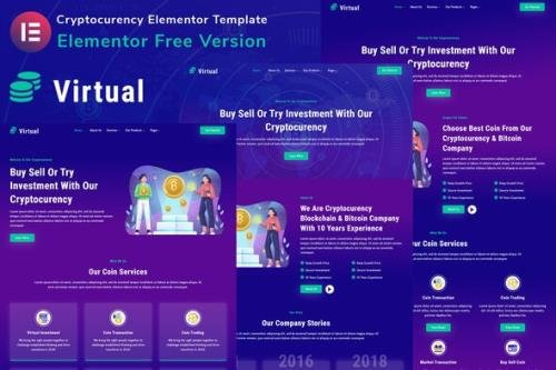 ThemeForest - Virtual v1.0.0 - Cryptocurency Blockchain & Bitcoin Elementor Template Kit - 32914380