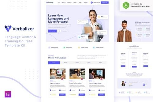 ThemeForest - Verbalizer v1.0.0 - Language Courses & Learning Center Elementor Template Kit - 33012087