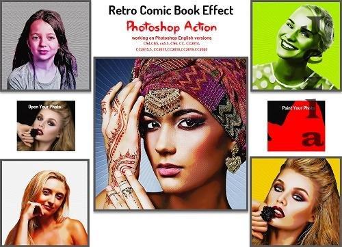 Retro Comic Book Effect PS Action - 5667462