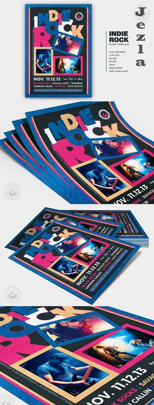 Indie Rock Flyer Template V13 - 6297488