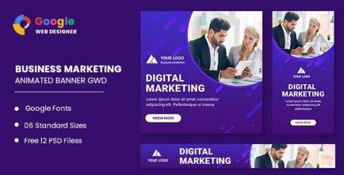 CodeCanyon - Business Marketing Animated Banner Google Web Designer v1.0 - 33072762