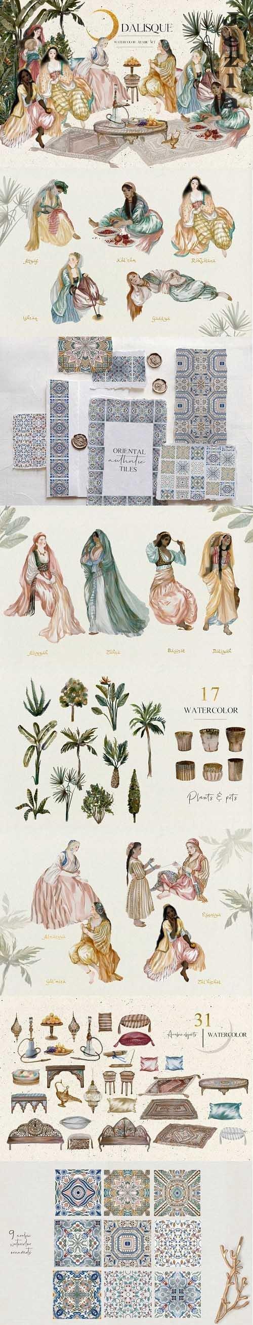 Odalisque - Watercolor Harem Creator - 5077161