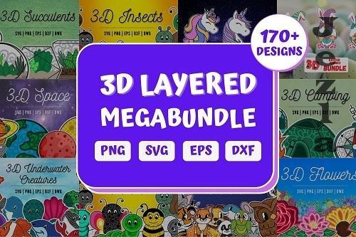 3D Layered SVG Bundle   Megabundle   Mandala - 1365713