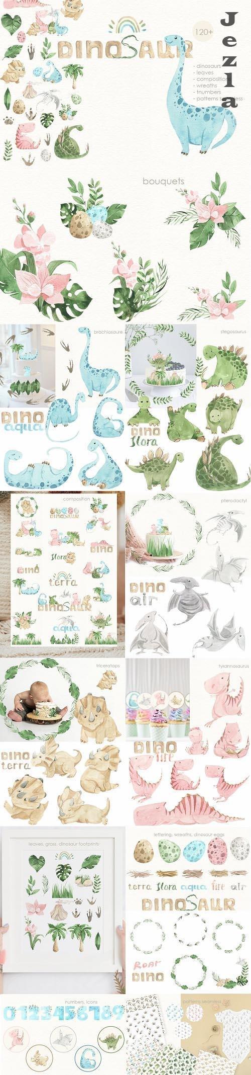 Dinosaurs cute illustration - 1480593
