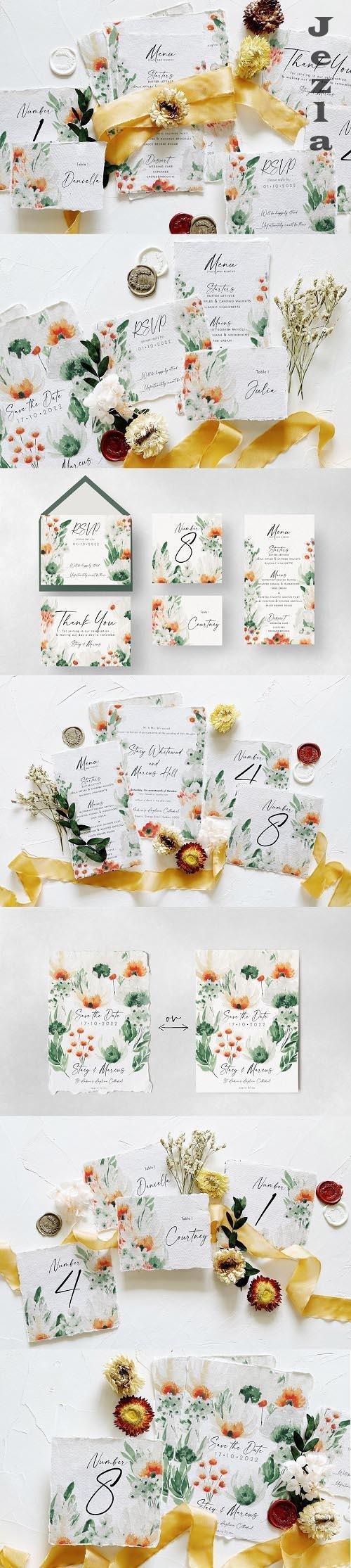 Green Wildflower Wedding Suite - 6320922