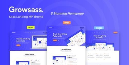 ThemeForest - Growsass v1.0.6 - Software Landing Page WordPress Theme - 23681004