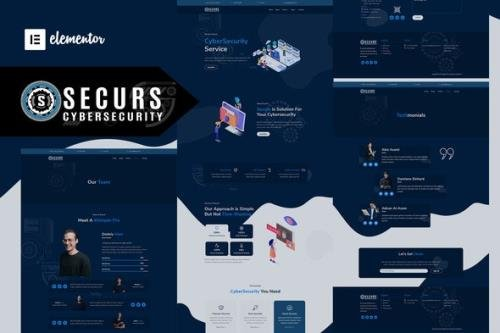 ThemeForest - Securs v1.0.3 - Cyber Security Service Elementor Template Kit - 33124054