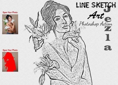 Line Sketch Art PHSP Action - 6204220