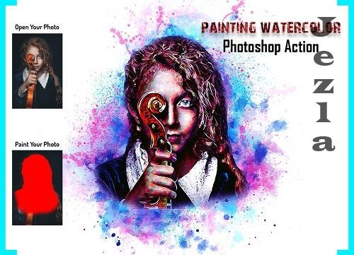 Painting Watercolor PHSP Action - 6209854