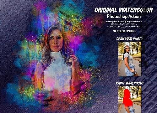 Original Watercolor PHSP Action - 6232498