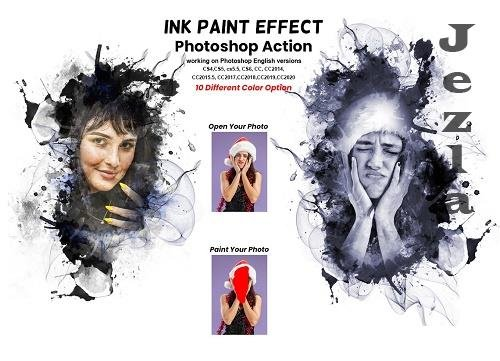 Ink Paint Effect PHSP Action - 6240910