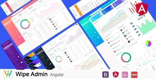 ThemeForest - Wipe Admin v1.0 - Angular 9+ Bootstrap 4+ Multipurpose Admin Dashboard Template (Update: 16 June 20) - 23497797