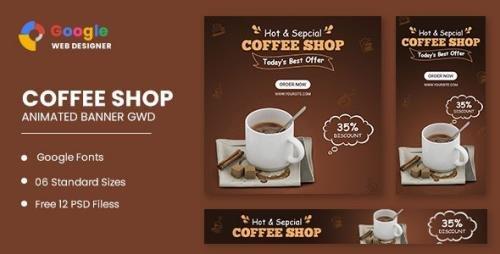 CodeCanyon - Coffee Shop Animated Banner Google Web Designer v1.0 - 33168871