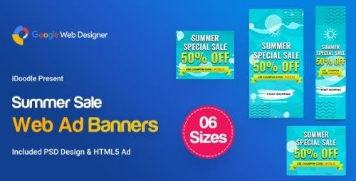 CodeCanyon - C15 - Summer Sales Banners GWD & PSD v1.0 - 23782367