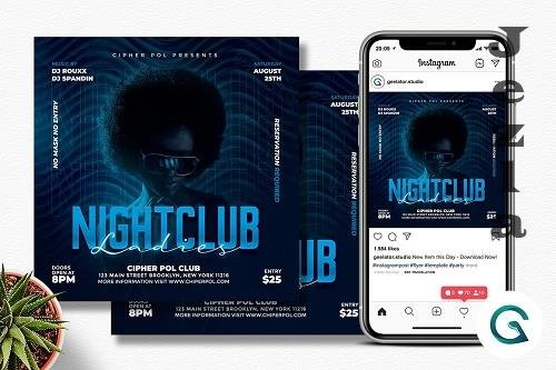 Night Club Ladies Flyer Template - 6333384