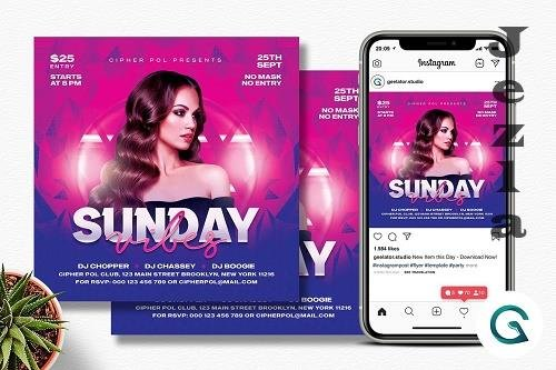 Sunday Vibes Party Flyer Template - 6333413