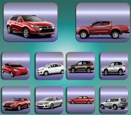 Растровые клипарты для фоторамок - Автомобиль Mitsubishi