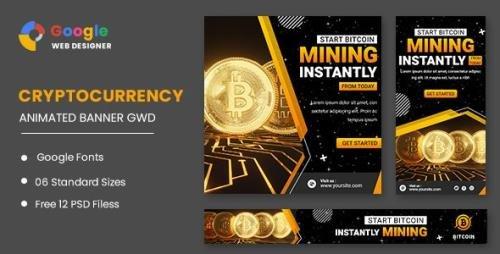 CodeCanyon - Cryptocurrency Bitcoin Animated Banner Google Web Designer v1.0 - 33287820