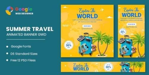 CodeCanyon - Traving World Animated Banner Google Web Designer v1.0 - 33221991