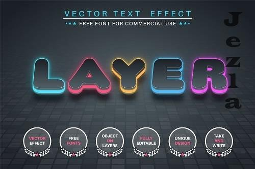 Color Layer - editable text effect - 6350116
