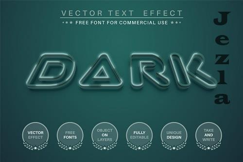 Dark green - editable text effect - 6350959