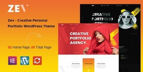ThemeForest - Zev v1.0.4 - Creative Personal Portfolio WordPress Theme - 32538403
