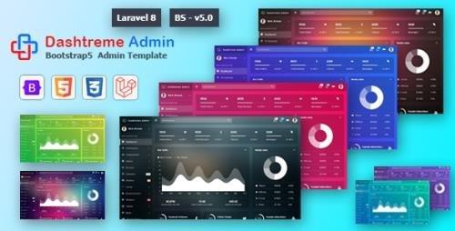 ThemeForest - Dashtreme v1.0 - Laravel 8+ Bootstrap5 Admin Template (Update: 2 May 21) - 31701888