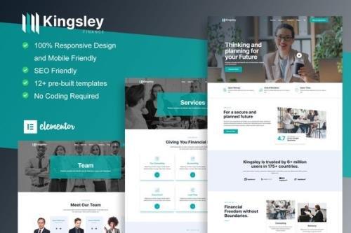 ThemeForest - Kingsley v1.0.0 - Finance & Investment Elementor Template Kit - 33317767