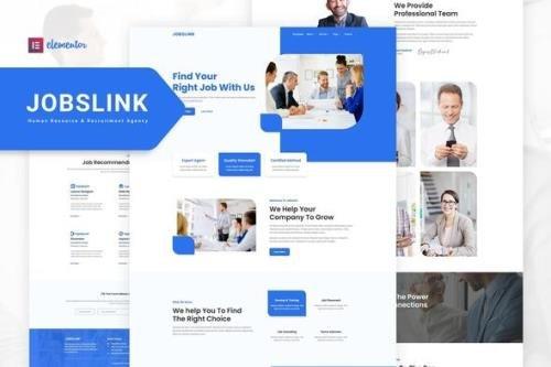ThemeForest - Jobslink v1.0.1 - Human Resource & Recruitment Agency Elementor Template Kit - 33312181