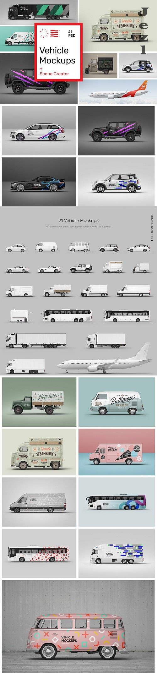 Vehicle Mockups - Car Mockups - 5933647