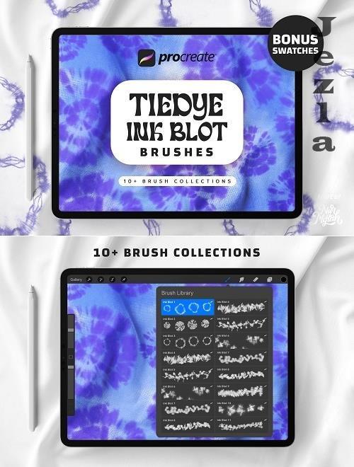 Procreate Tie Dye Ink Blot Brushes - 1481757