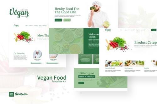 ThemeForest - Vegan v1.0.0 - Restaurant Elementor Template Kit - 33347258