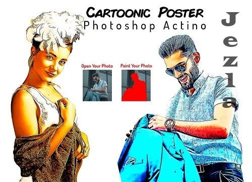 Cartoonic Poster Action - 6410336