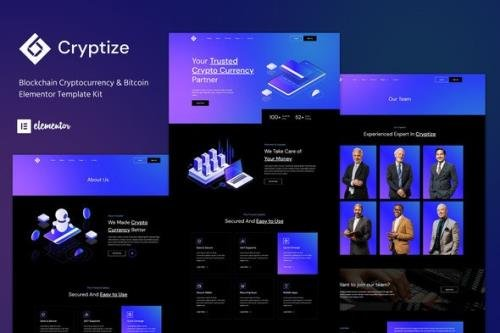 ThemeForest - Cryptize v1.0.0 - Blockchain Cryptocurrency & Bitcoin Elementor Template Kit - 33472297