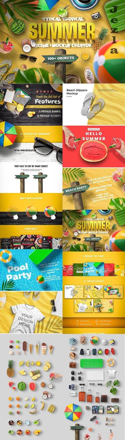 Summer Scene and Mockup Creator - 6417911