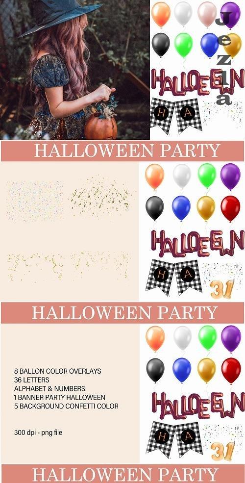 Halloween ballon overlays - 1553884