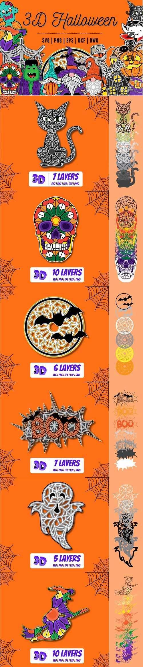 3D Halloween Svg Bundle   Trick or Treat   31st October - 1553552