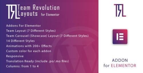 CodeCanyon - Team Revolution Layouts for Elementor v1.0 - 33705990