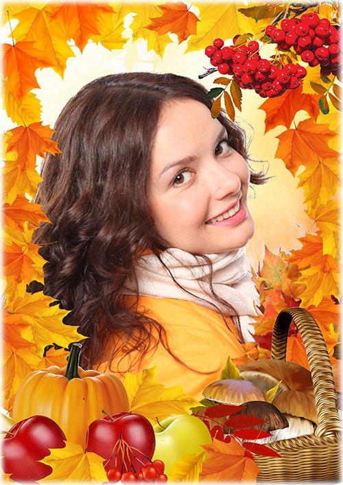 Рамка для фотошопа - Осенние дары