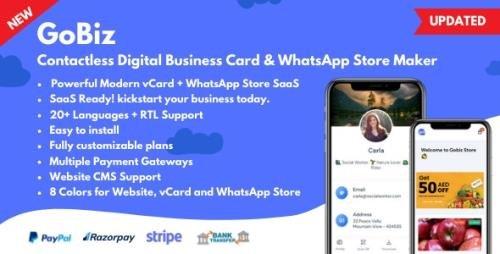 ThemeForest - GoBiz v4.0.1 - Digital Business Card + WhatsApp Store Maker | SaaS | vCard Builder - 33165916 -