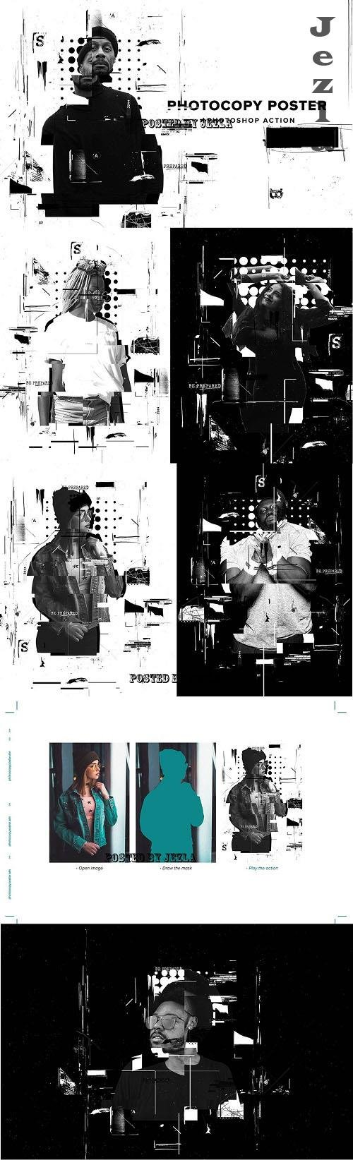 Photocopy Glitch Poster PS Action - 6357766