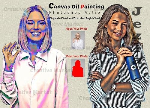 Canvas Oil Painting PHSP Action - 6481461