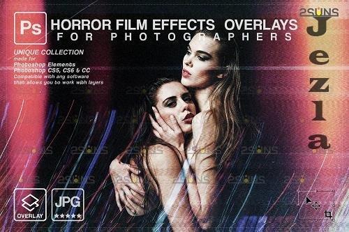 Horror effects, Film Grain Textures, Scratch Photo Overlays V2 - 1447898
