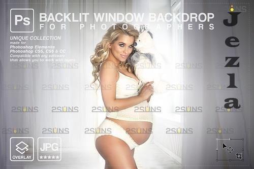 Curtain backdrop & Maternity digital photography backdrop - 1447846