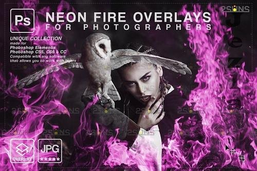 Fire background, PHSP overlay, Burn overlays, Neon Fire - 1447872