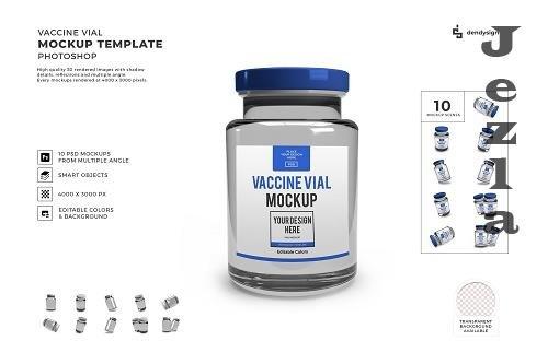 Vaccine Vial 3D Mockup Template Bundle - 1578473