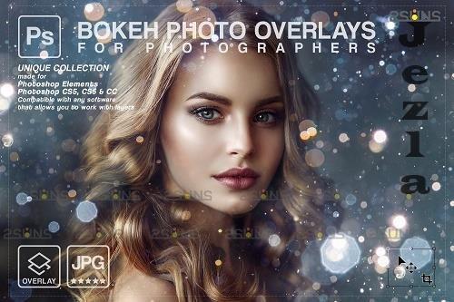 Glitter overlay, Lens flare overlay, Gold Bokeh light V7- 1447913